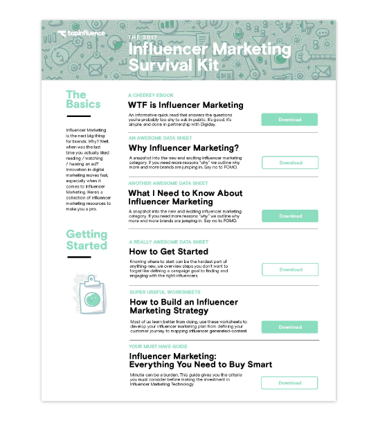 Influencer Marketing Survival Kit